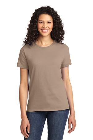 Womens Sand Round Neck T-Shirt