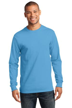 Mens Aquatic Blue Long Sleeve Tshirt