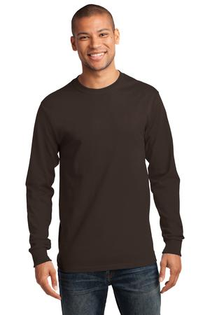 Mens Dark Chocolate Brown Long Sleeve Tshirt