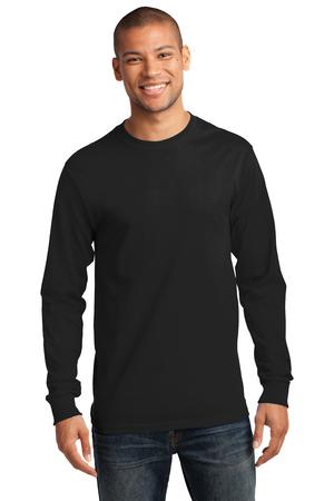Mens Jet Black Long Sleeve Tshirt