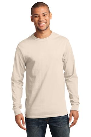 Mens Natural Long Sleeve Tshirt