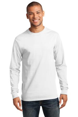 Mens White Long Sleeve Tshirt