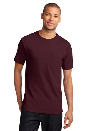 Mens Athletic Maroon Tshirt with Pocket