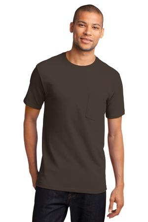 Mens Brown Tshirt with Pocket