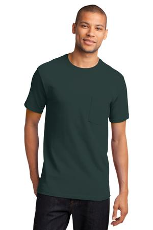 Mens Dark Green Tshirt with Pocket