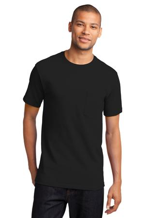 Mens Jet Black Tshirt with Pocket
