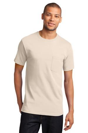 Mens Natural Tshirt with Pocket