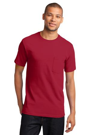 Mens Red Tshirt with Pocket