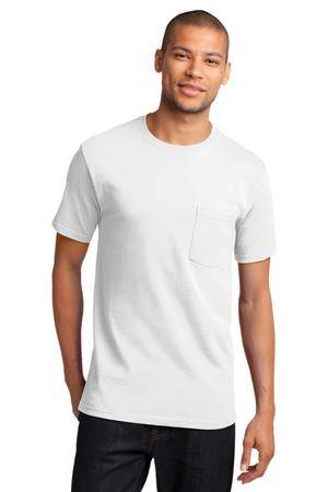 Mens White Tshirt with Pocket